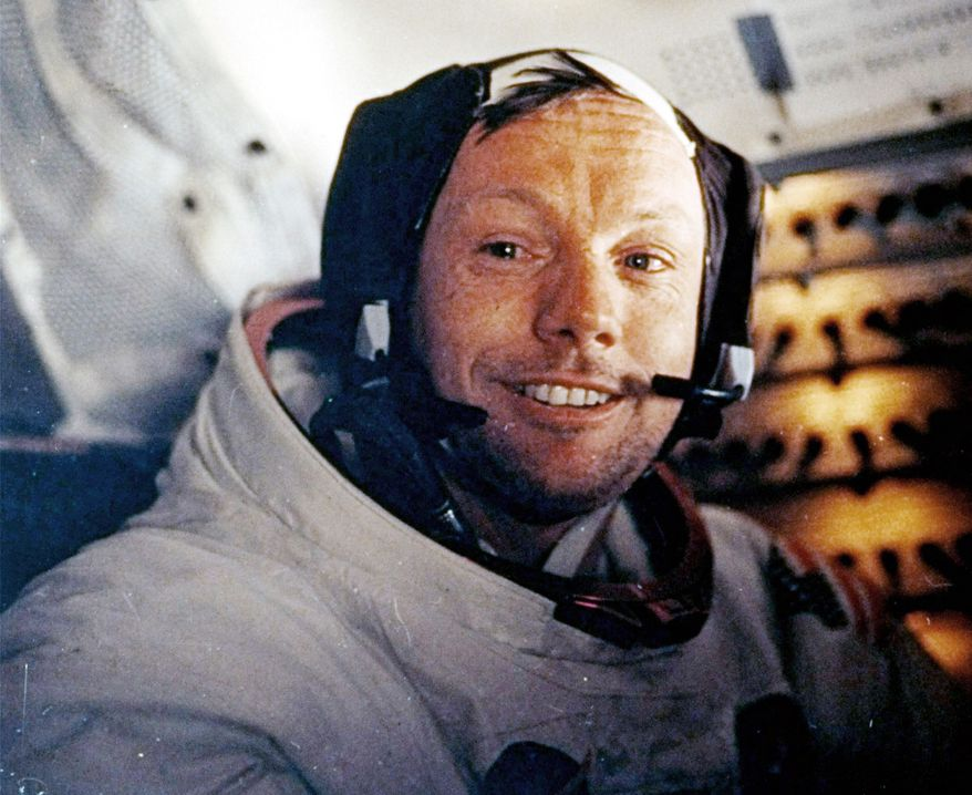 Astronaut Neil Armstrong, the first man to walk on the moon, died Aug. 25, 2012. (Associated Press)