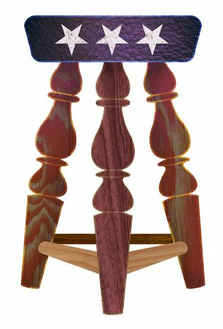 Illustration GOP Stool by Greg Groesch for The Washington Times