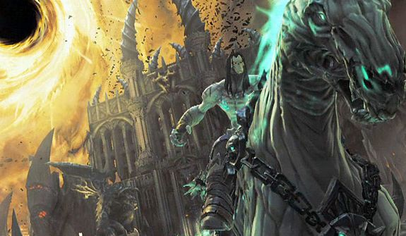 Death rides Despair in the video game Darksiders II.