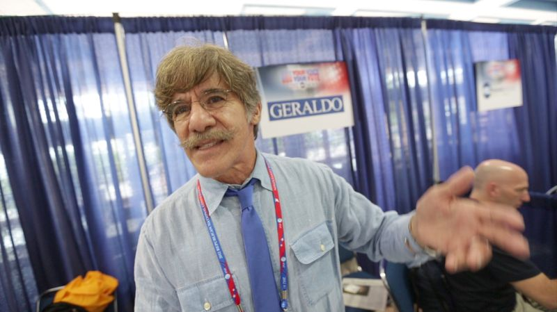 Geraldo Rivera talks with reporters at the National Republican Convention (RNC), in Tampa, FL., Monday, August 27, 2012. The RNC will run from the 27th through the 30th of August.(Andrew