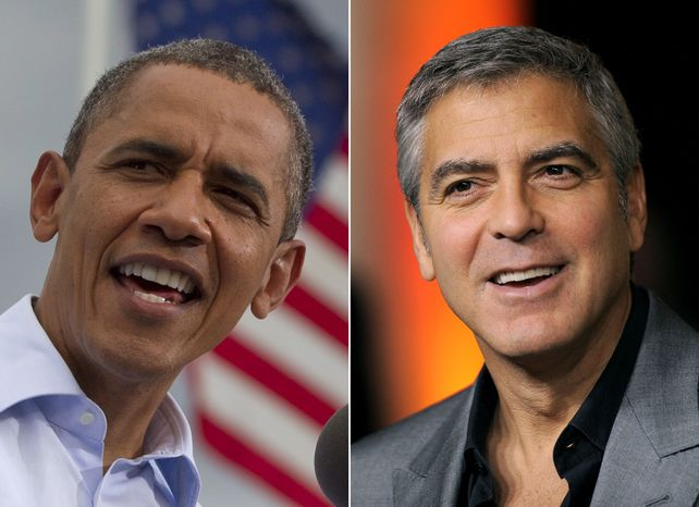 President Obama (left) calls actor George Clooney a good friend whom he got to know during Mr. Clooney's work on Sudan. (Associated Press)