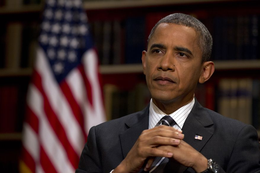 **FILE** President Obama speaks Aug. 23, 2012, during an interview with the Associated Press at the White House in Washington. (Associated Press)