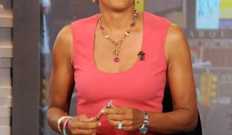 "**FILE** Robin Roberts, co-host of ABC's ""Good Morning America,"" is seen here Aug. 20, 2012, during a broadcast of the show in New York. (Associated Press/ABC)"