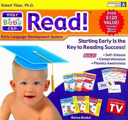 This undated handout image provided by the Federal Trade Commission (FTC) shows an advertisement for the `Your Baby Can Read' program. The man behind the `Your Baby Can Read' program _ videos claiming to teach infants to read _ is in trouble with the FTC. The FTC has filed false and deceptive advertising charges against the creator, Robert Titzer, for promoting the program in ads and product packaging as a tool to teach infants as young as nine months to read. The `Your Baby Can Read' program used a combination of videos, flash cards and pop-up books and was advertised extensively on television, YouTube, Facebook and Twitter. (AP Photo/FTC)