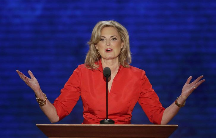 Ann Romney, wife of U.S. Republican presidential nominee Mitt Romney, addresses the Republican National Convention in Tampa, Fla., on Tuesday, Aug. 28, 2012. (AP Photo/J. Scott Applewhite)