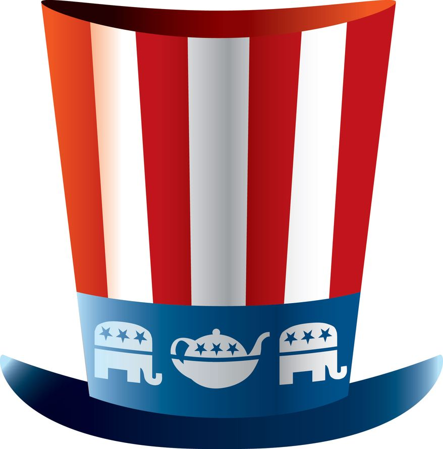 Illustration Tea Party Republican by Linas Garsys for The Washington Times
