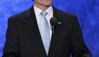 Virginia Gov. Bob McDonnell addresses the Republican National Convention in Tampa, Fla., on Aug. 28, 2012. (Associated Press)