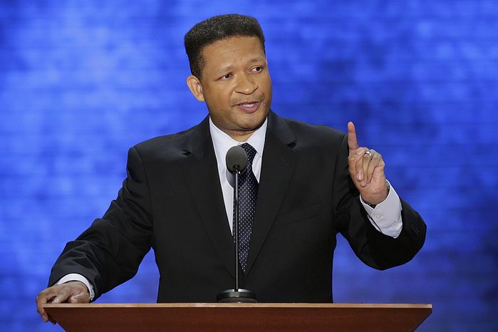 Former Representative Artur Davis addresses the Republican National Convention in Tampa, Fla., on Tuesday, Aug. 28, 2012. (AP Photo/J. Scott Applewhite)
