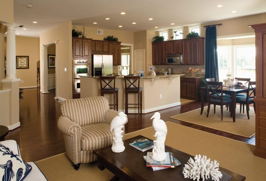 The Bornquist has a great room that is open to the kitchen.