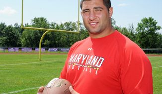 Joe Vellano overcame an injury-filled start to his career at Maryland to earn second-team All-ACC honors in 2010 and first-team accolades in 2011. The Terrapins kick off their season Saturday. (Hans Pennink/Special to The Washington Times)