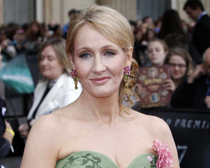 "British author J.K. Rowling attends the world premiere of ""Harry Potter and the Deathly Hallows: Part 2"" in London in July 2011. (AP Photo)"
