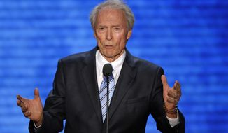 Actor Clint Eastwood addresses the Republican National Convention in Tampa, Fla., on Aug. 30, 2012. (Associated Press)