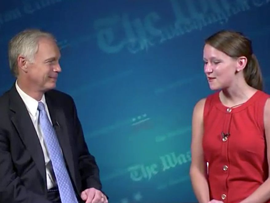 Screenshot: Reporter Paige Winfield Cunningham interviews Senator, Ron Johnson, at the Republican National Convention.