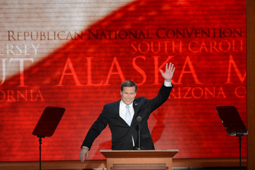 Florida Rep. Connie Mack addresses the Republican National Convention at the Tampa Bay Times Forum. (Rod Lamkey, Jr./The Washington Times)