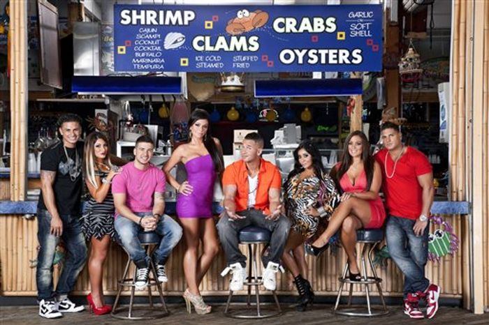 "This undated image released by MTV shows the cast of ""Jersey Shore"" in Seaside Heights, N.J. MTV gave the last call for ""Jersey Shore"" on Thursday, Aug. 30, saying the raucous reality show will conclude after its upcoming sixth season, which begins Oct. 4. (AP Photo/MTV, Ian Spanier Photography)"