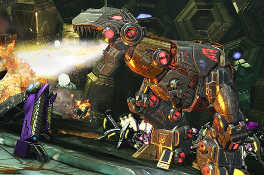 Grimlock as a Dinobot in the video game Transformers: Fall of Cybertron.