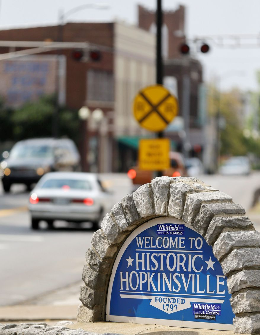 Hopkinsville, a southwestern Kentucky town, will experience a total eclipse of the sun Aug. 21, 2017, longer than any place on the planet. It will last 2 minutes, 40 seconds, and the town of 32,000 already is making preparations to cash in on the fortuitous celestial alignment. (Associated Press)