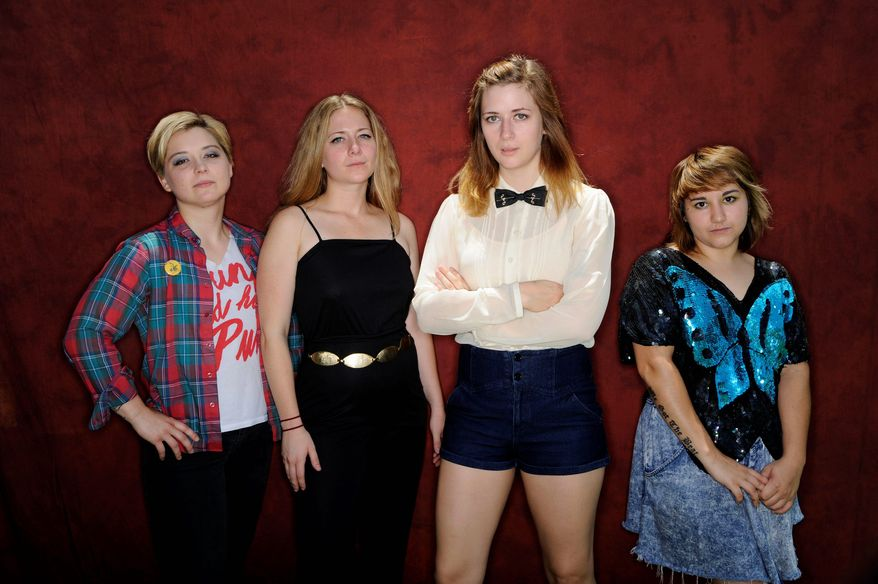 Music City rockers Heavy Cream is made up of (from left) Tiffany Minton, Mimi Galbierz, Jessica McFarnland and Olivia Scibelli. Nashville is becoming a magnet for indy rock. (Associated Press)