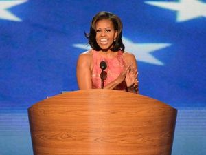 First lady makes a splash at DNC