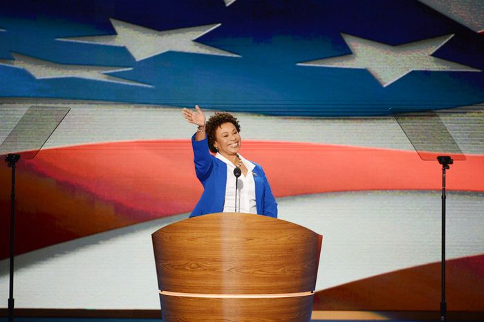 ** FILE ** Rep. Barbara Lee, California Democrat, addresses the Democratic National Convention in Charlotte, N.C., on Tuesday, Sept. 4, 2012. (Andrew S. G