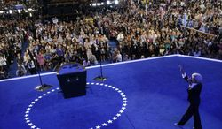Women's rights activist Lilly Ledbetter makes her way to the podium to speak at the Democratic National Convention in Charlotte, N.C., on Sept. 4, 2012. (Associated Press)