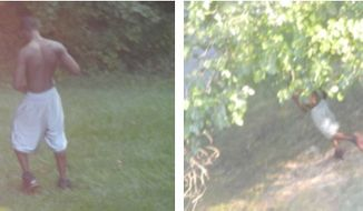 Photos taken by a bystander of a man thought to be involved in an evening shooting at Mandan Field on Aug. 28. Courtesy Greenbelt police.