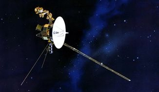 This artists rendering provided by NASA shows the Voyager spacecraft. Launched in 1977, the twin spacecraft are exploring the edge of the solar system. (AP Photo/NASA)