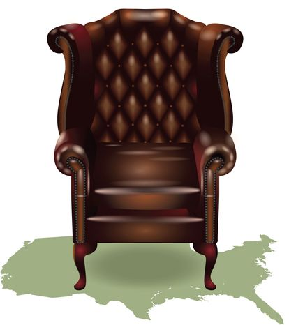 Illustration Empty Chair by Linas Garsys for The Washington Times