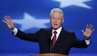 Former President Bill Clinton addresses the Democratic National Convention in Charlotte, N.C., on Wednesday, Sept. 5, 2012. (Associated Press)