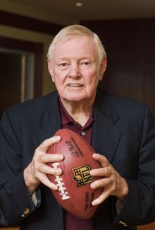 Portrait of Sonny Jurgensen, before Washington Redskins take on Indianapolis Colts in week three of NFL preseason football, Saturday, August 25, 2012 in Washington, DC. (Craig Bisacre/The Washington Times)