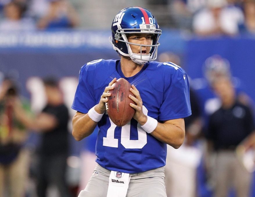 ** FILE ** New York Giants quarterback Eli Manning. (Associated Press)