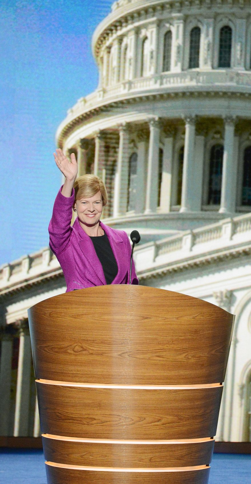 Rep. Tammy Baldwin of Wisconsin is running against former Gov. Tommy Thompson for the U.S. Senate. Their race is important to whether Democrats maintain their majority in the Senate. (Andrew Geraci/The Washington Times)