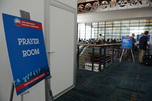 A designated Prayer Room in the Charlotte Convention Center during the Democratic National Convention in Charlotte, N.C., on Thursday, September 6, 2012. (Barbara Salisbury/ The Washington Times)