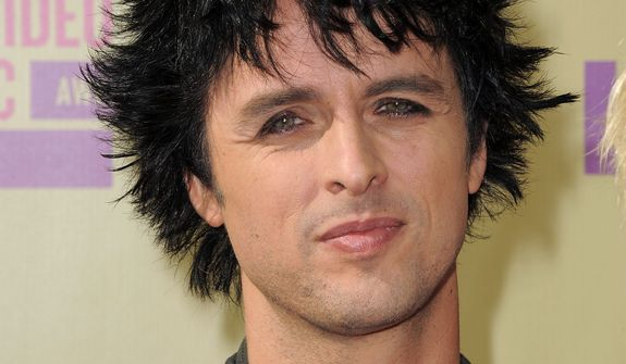 Billie Joe Armstrong of Green Day attends the MTV Video Music Awards on Thursday, Sept. 6, 2012, in Los Angeles. (Photo by Jordan Strauss/Invision/AP)