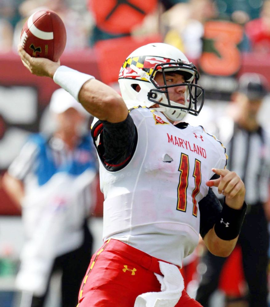 associated press   Maryland freshman quarterback Perry Hills has committed four turnovers in the first two games, including three interceptions in the season opener Sept 1.