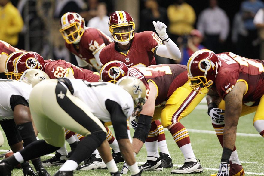Redskins quarterback Robert Griffin III became the first quarterback to throw for 300 yards and two touchdowns with no interceptions in his NFL debut.