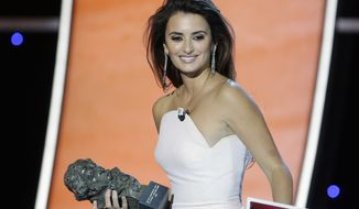 Spanish actress Penelope Cruz attends the Goya film awards in Madrid in February 2010. (AP Photo/Paul White)