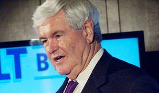 ** FILE ** Former House Speaker Newt Gingrich (The Washington Times)