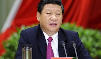 Chinese Vice President Xi Jinping addresses the opening ceremony of the autumn semester of the Party School of the Communist Party of China in Beijing on Saturday, Sept. 1, 2012. (AP Photo/Xinhua)