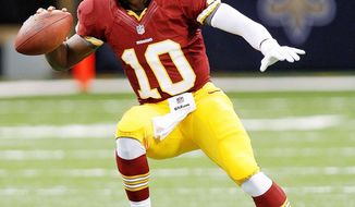 ** FILE ** Robert Griffin III of the Washington Redskins. (Associated Press)