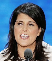 South Carolina Gov. Nikki Haley addresses the Republican National Convention in Tampa, Fla., on Tuesday, Aug. 28, 2012. (Associated Press)