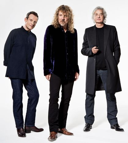 Surviving members of the British rock band Led Zeppelin (from the left) John Paul Jones, Robert Plant and Jimmy Page (Associated Press)