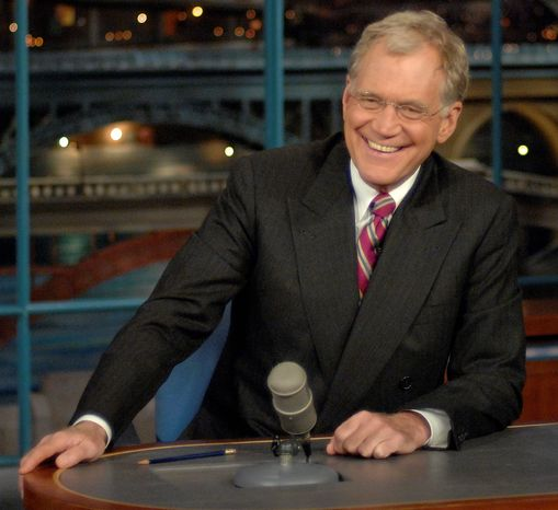 This undated handout photo provided by the Kennedy Center and CBS News shows David Letterman in New York. (AP Photo/John Paul Filo, CBS)