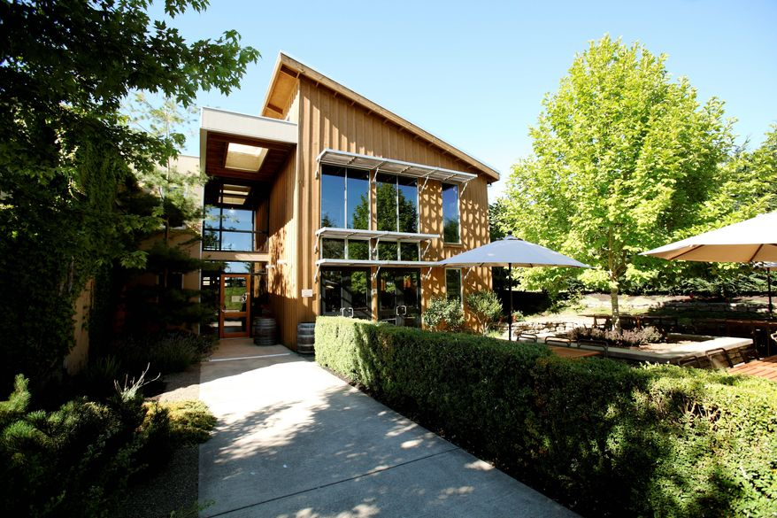 The exterior of Carlton Winemakers Studio in Carlton, Ore., where small winemakers can start out, using communal equipment and pooling expertise until they can establish their own facilities. (Carlton Winemakers Studio via Associated Press)