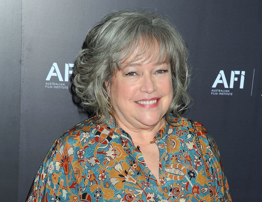 Oscar-winning actress Kathy Bates arrives at the Australian Academy of Cinema and Television Arts Awards at the Soho House in Los Angeles on Friday, Jan. 27, 2012. (AP Photo/Katy Winn)