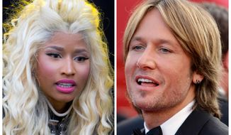 "Singer-rapper Nicki Minaj (left) and country crooner Keith Urban will join ""American Idol's"" panel of judges this season. (AP Photo)"