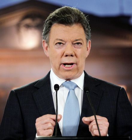 Colombian President Juan Manuel Santos (Associated Press)