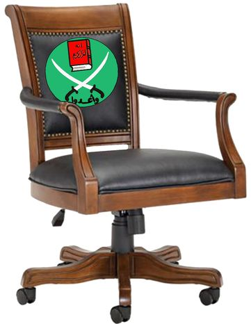 Illustration Islamist Chair by John Camejo for The Washington Ti