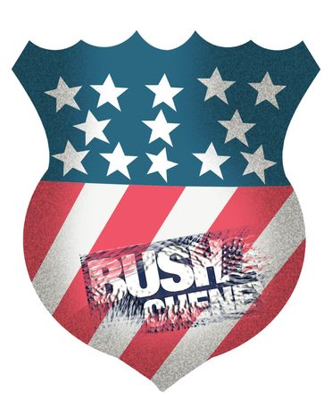 Illustration Bush Cheney Thumbprint by John Camejo for The Washington Times