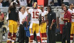 Joshua Morgan after he was penalized for unsportsmanlike conduct. (Associated Press)